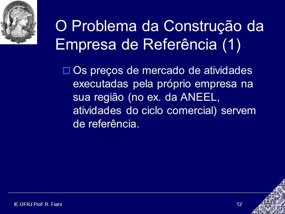 O Problema da Construção da Empresa de Referência (1)