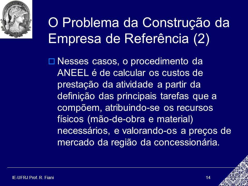 O Problema da Construção da Empresa de Referência (2)