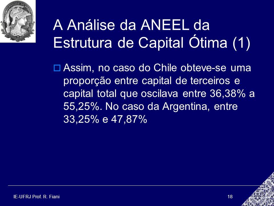 A Análise da ANEEL da Estrutura de Capital Ótima (1)