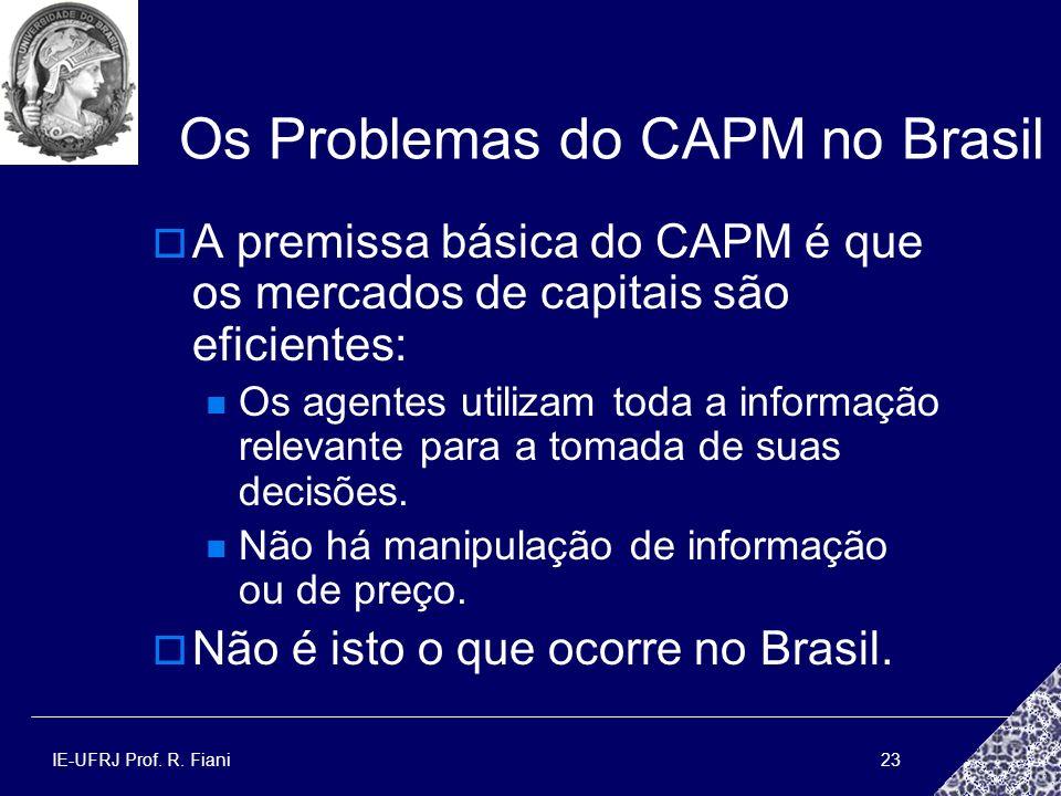 Os Problemas do CAPM no Brasil