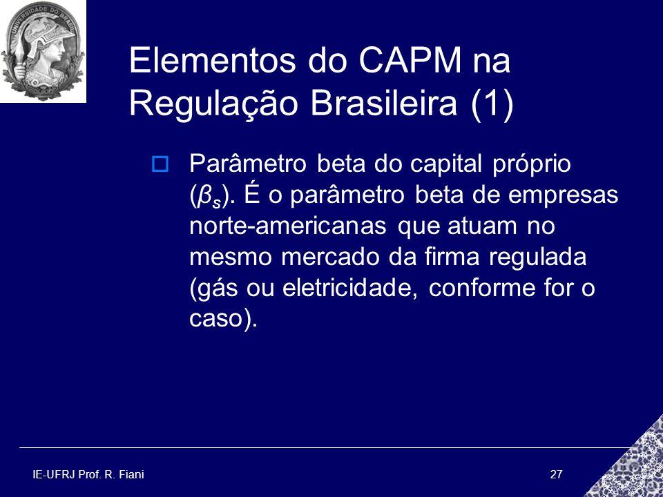 Elementos do CAPM na Regulação Brasileira (1)
