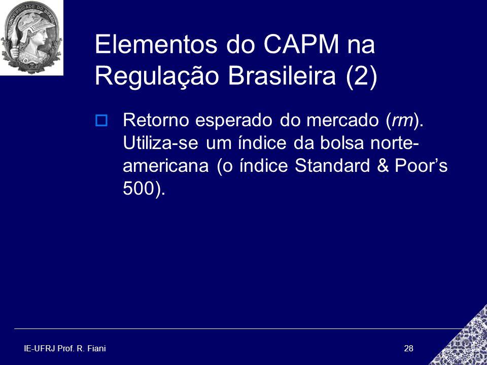 Elementos do CAPM na Regulação Brasileira (2)