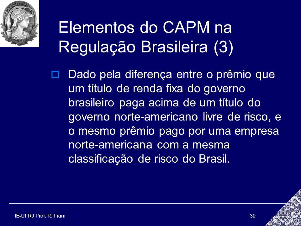 Elementos do CAPM na Regulação Brasileira (3)
