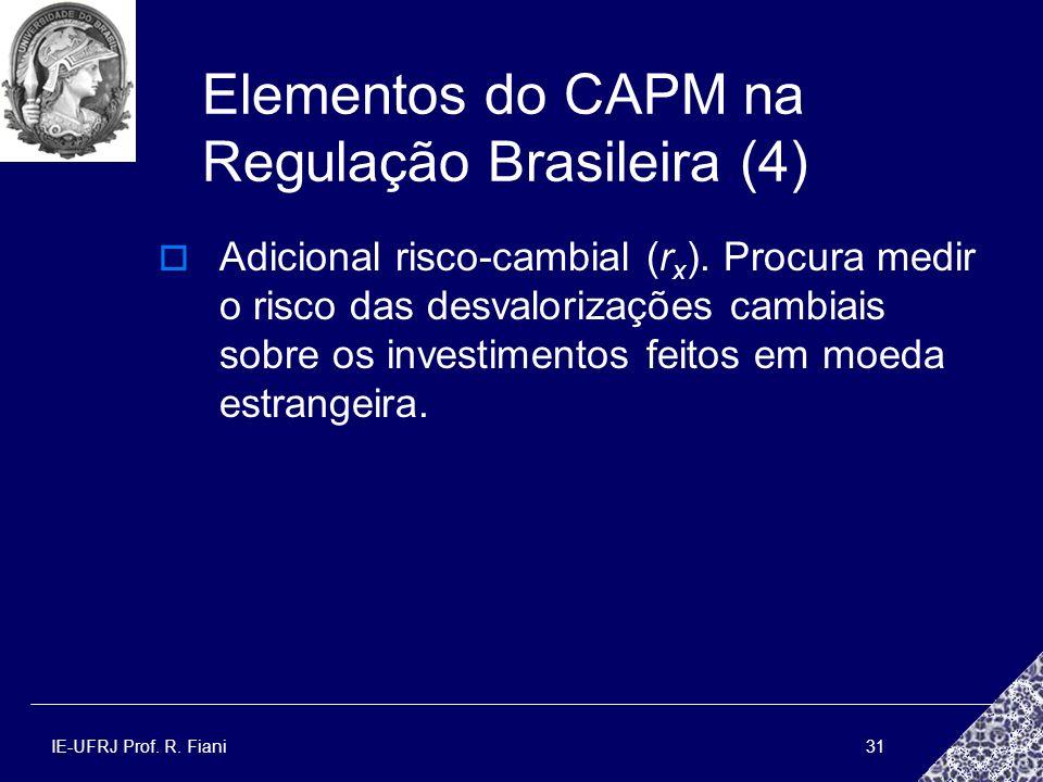 Elementos do CAPM na Regulação Brasileira (4)