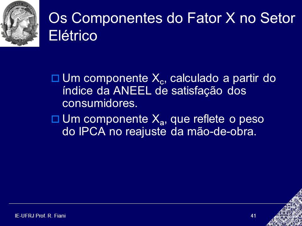 Os Componentes do Fator X no Setor Elétrico