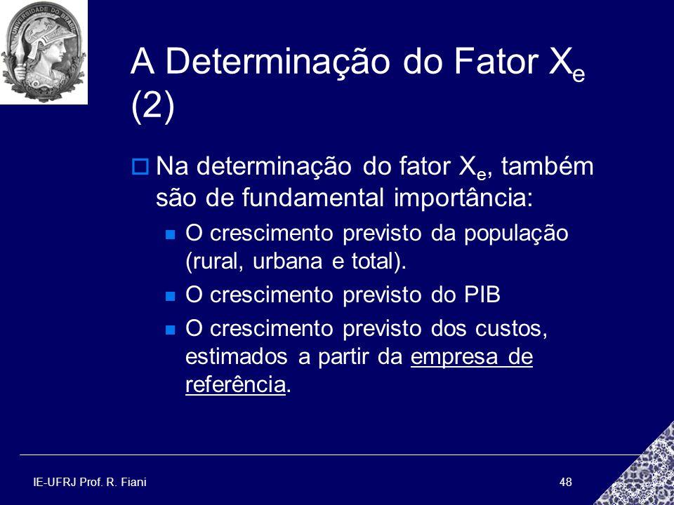 A Determinação do Fator Xe (2)