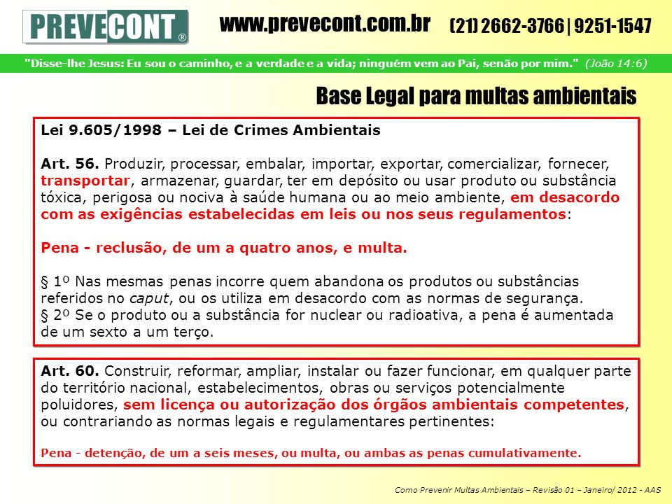 Base Legal para multas ambientais