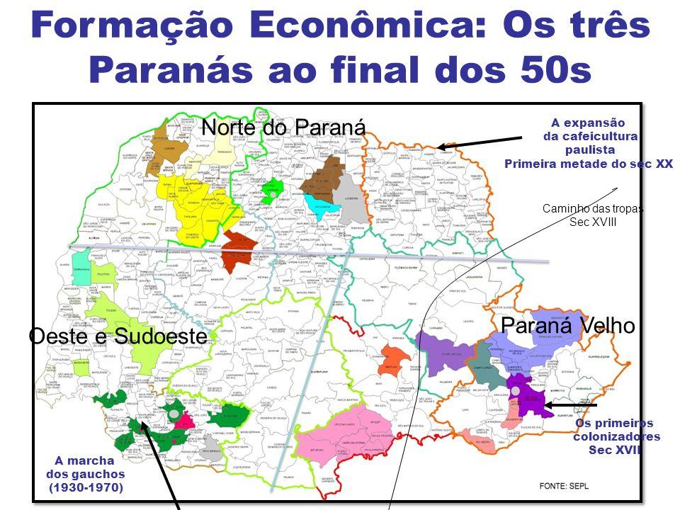 Formação Econômica: Os três Paranás ao final dos 50s