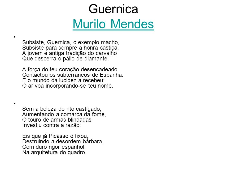 Guernica Murilo Mendes