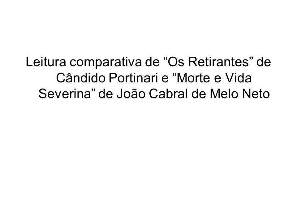 Leitura comparativa de Os Retirantes de Cândido Portinari e Morte e Vida Severina de João Cabral de Melo Neto