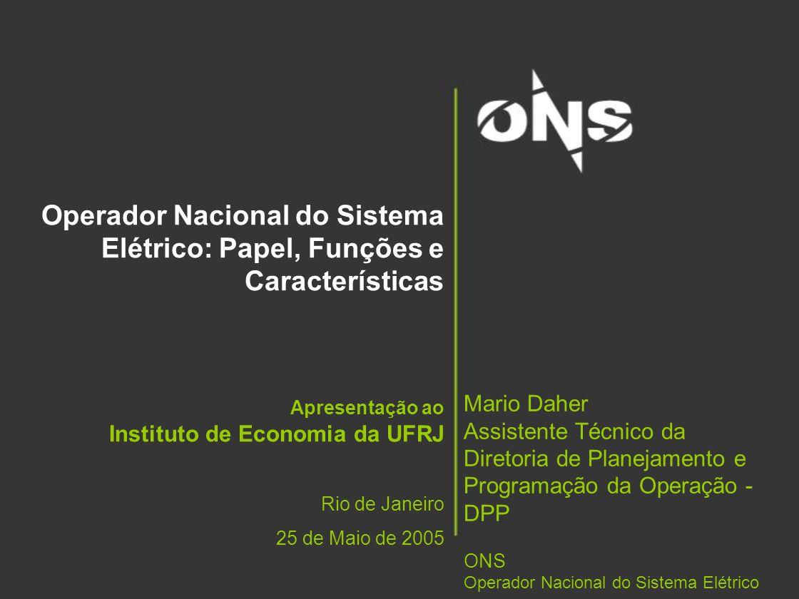 Operador Nacional do Sistema Elétrico: Papel, Funções e Características