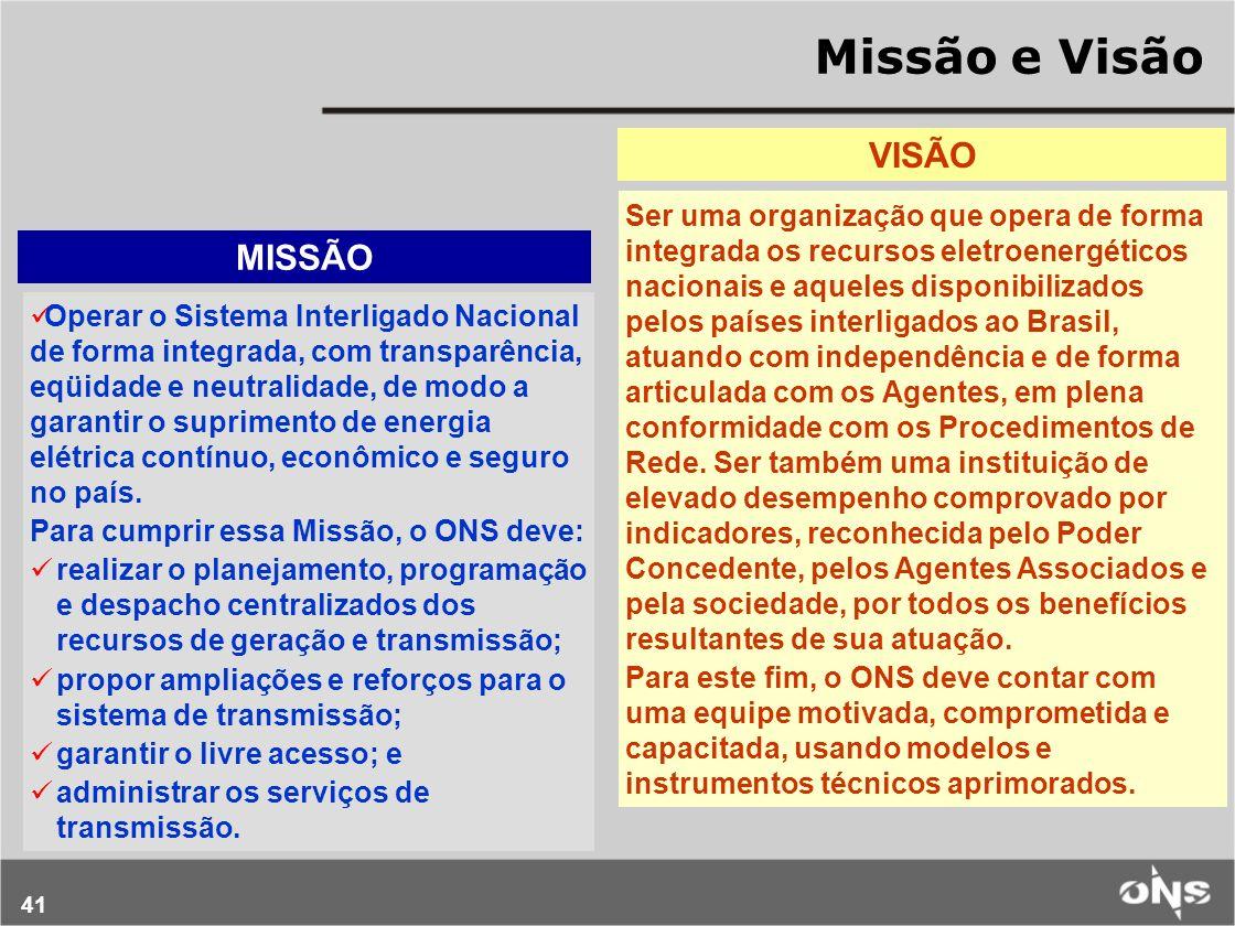 Missão e Visão VISÃO MISSÃO