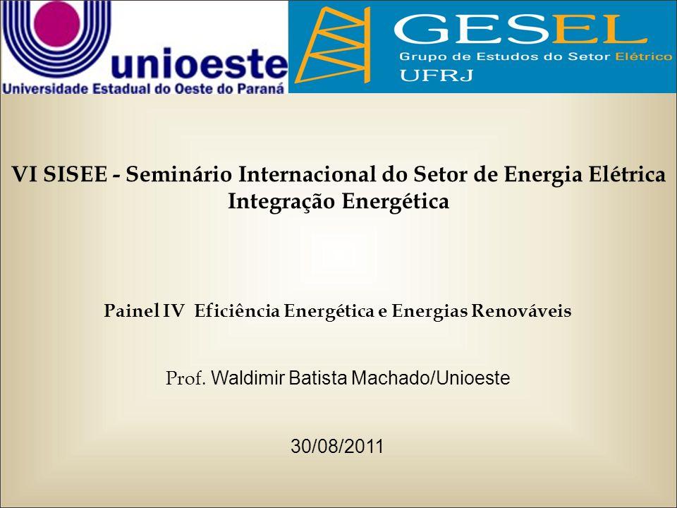 VI SISEE - Seminário Internacional do Setor de Energia Elétrica