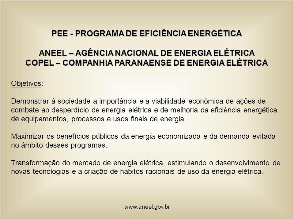 PEE - PROGRAMA DE EFICIÊNCIA ENERGÉTICA