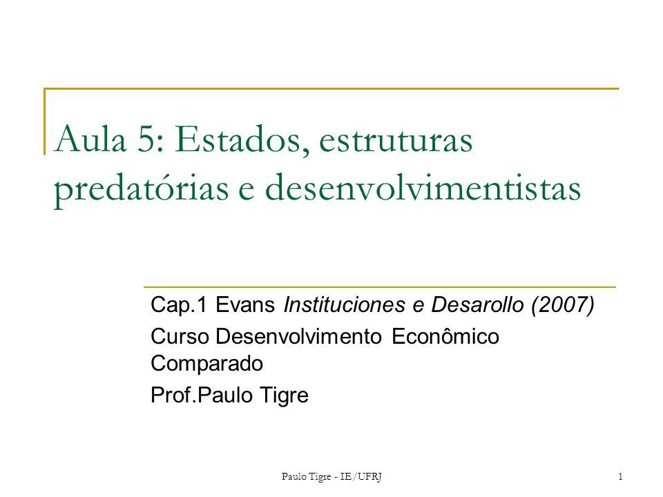 Aula 5: Estados, estruturas predatórias e desenvolvimentistas