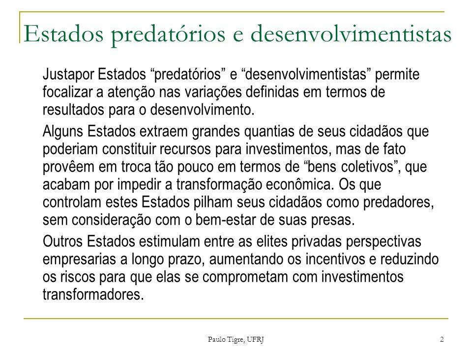 Estados predatórios e desenvolvimentistas