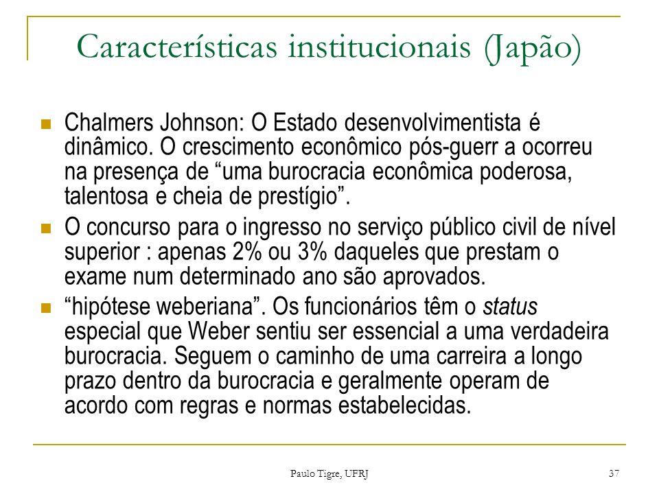 Características institucionais (Japão)