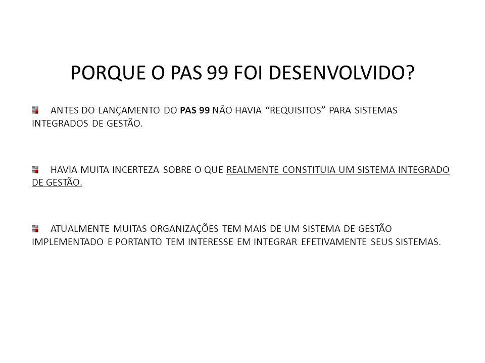 PORQUE O PAS 99 FOI DESENVOLVIDO