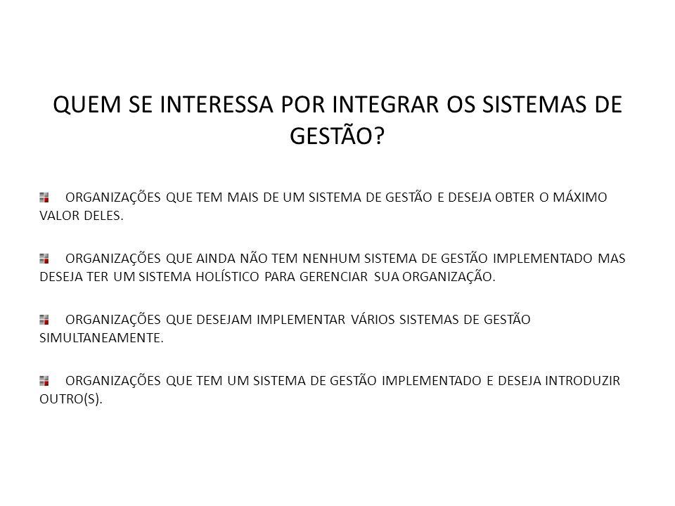QUEM SE INTERESSA POR INTEGRAR OS SISTEMAS DE GESTÃO
