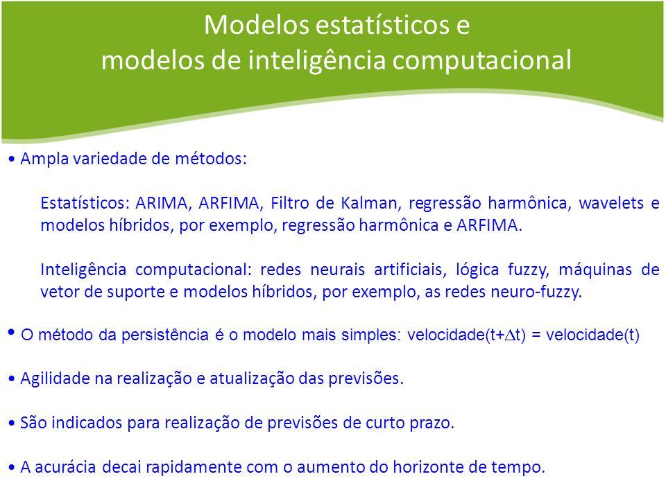 Modelos estatísticos e modelos de inteligência computacional