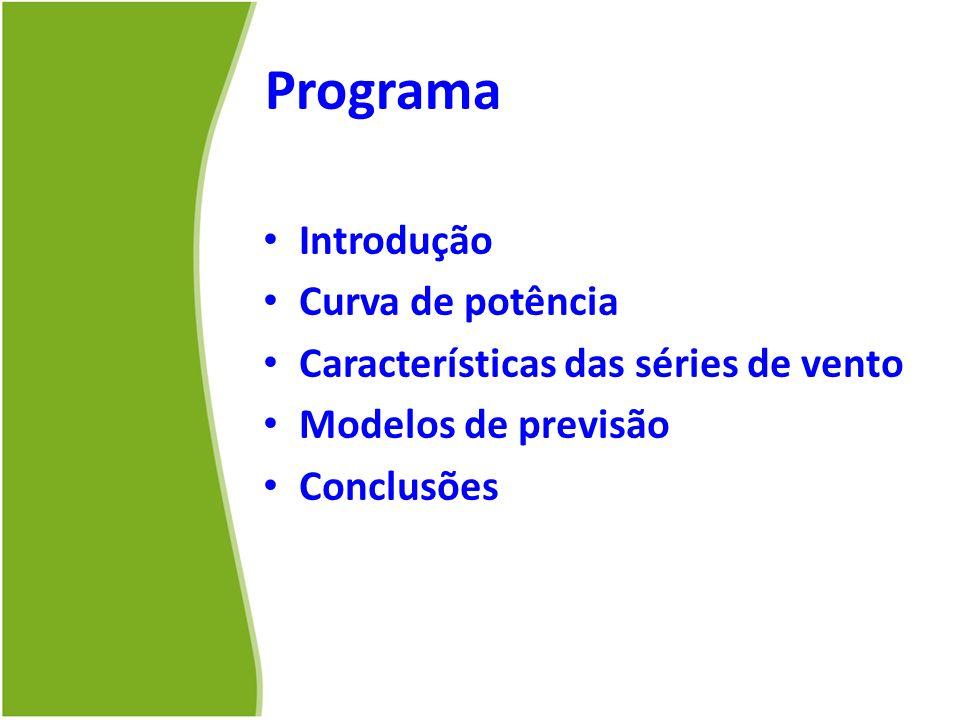 Programa Introdução Curva de potência