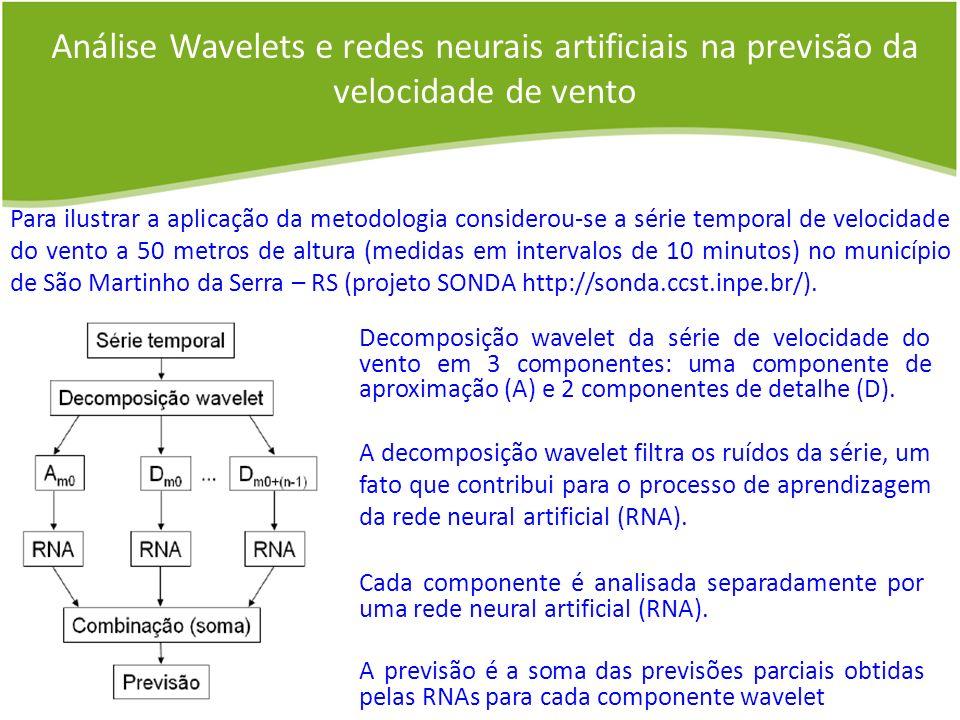 Análise Wavelets e redes neurais artificiais na previsão da velocidade de vento