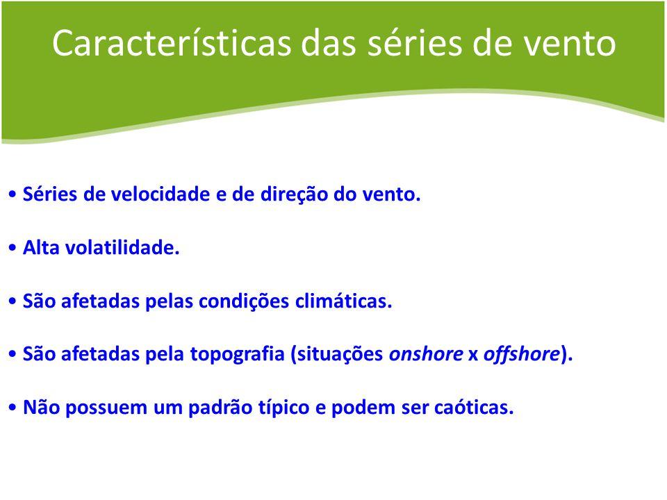 Características das séries de vento