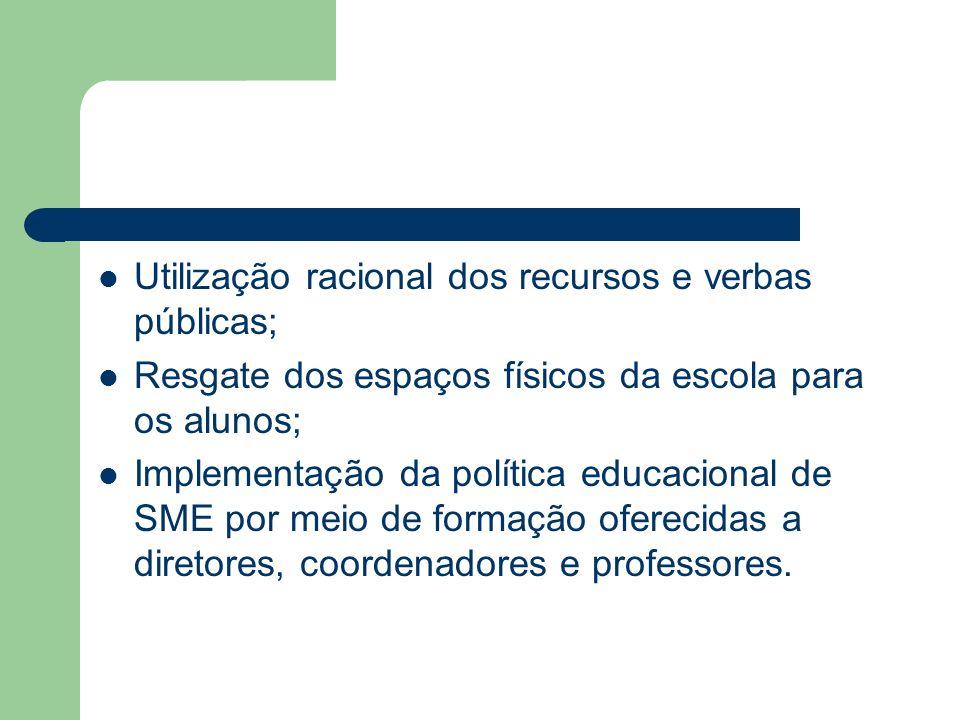 Utilização racional dos recursos e verbas públicas;