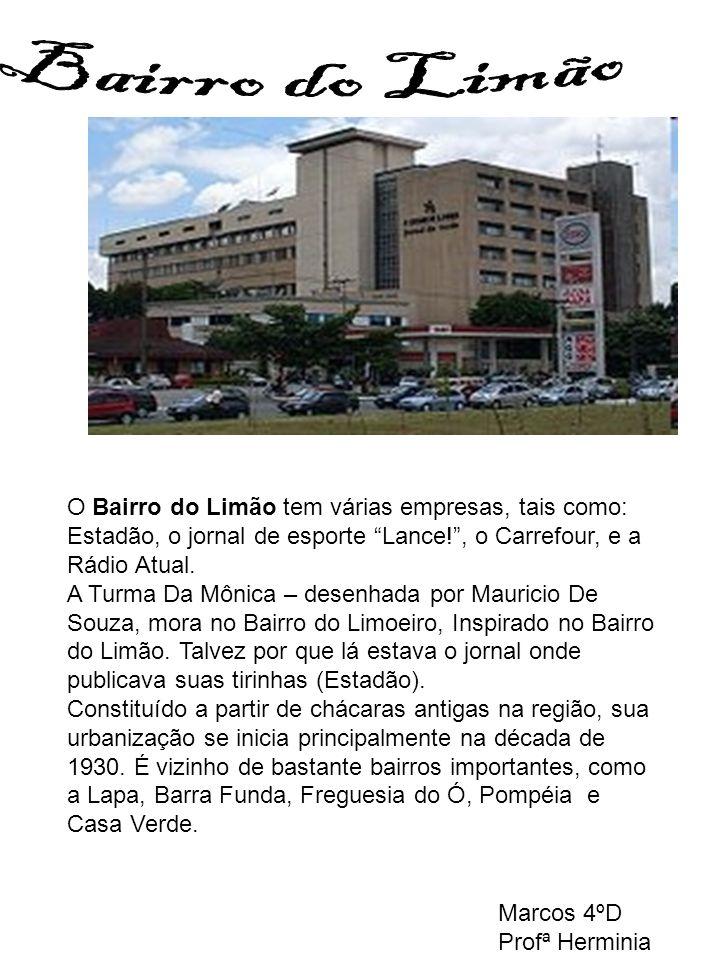Bairro do Limão O Bairro do Limão tem várias empresas, tais como: Estadão, o jornal de esporte Lance! , o Carrefour, e a Rádio Atual.