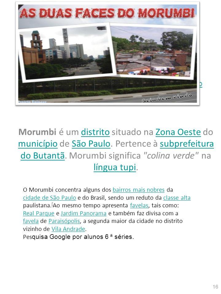 Morumbi é um distrito situado na Zona Oeste do município de São Paulo