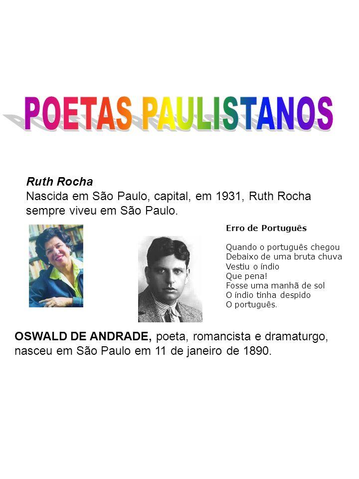 POETAS PAULISTANOS Ruth Rocha