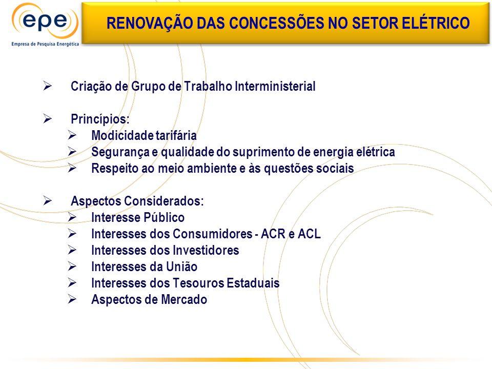 RENOVAÇÃO DAS CONCESSÕES NO SETOR ELÉTRICO