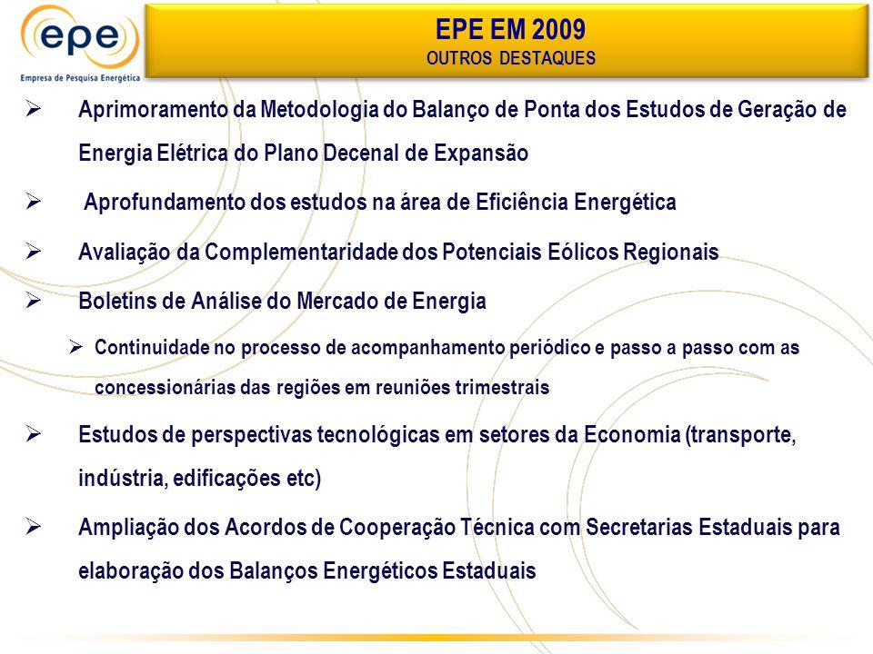 EPE EM 2009 OUTROS DESTAQUES.
