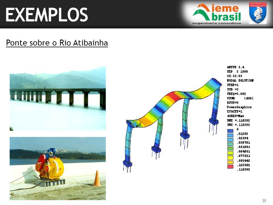 EXEMPLOS Ponte sobre o Rio Atibainha
