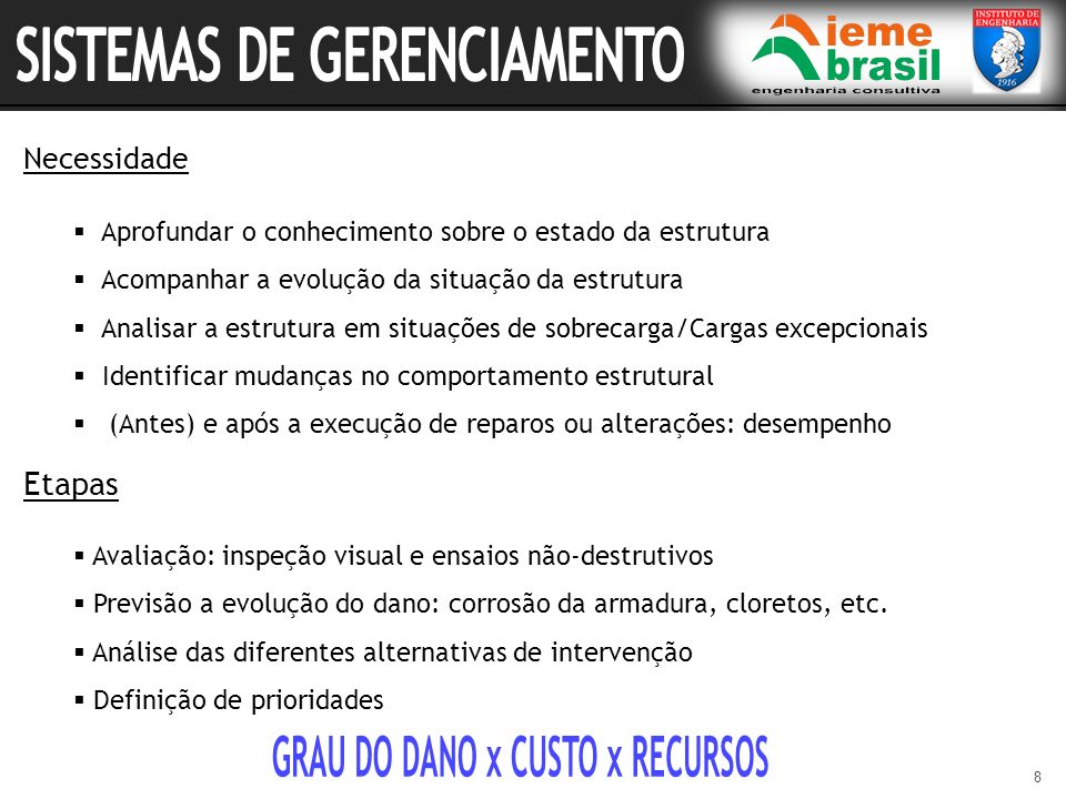 GRAU DO DANO x CUSTO x RECURSOS
