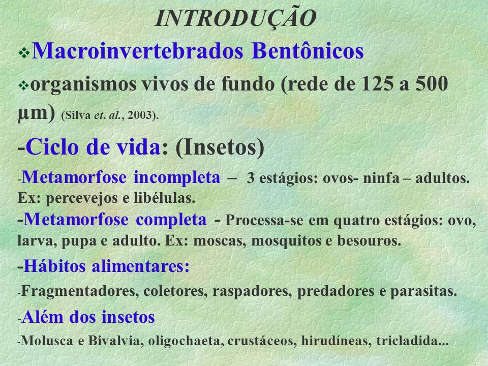 Macroinvertebrados Bentônicos