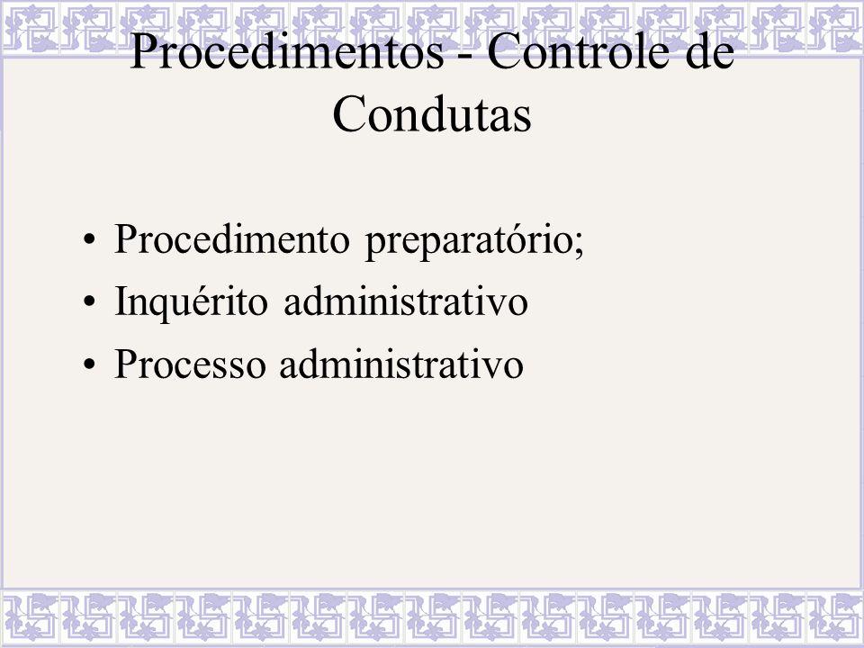 Procedimentos - Controle de Condutas