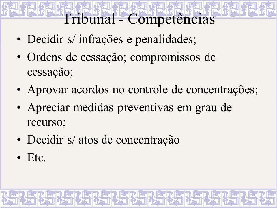 Tribunal - Competências