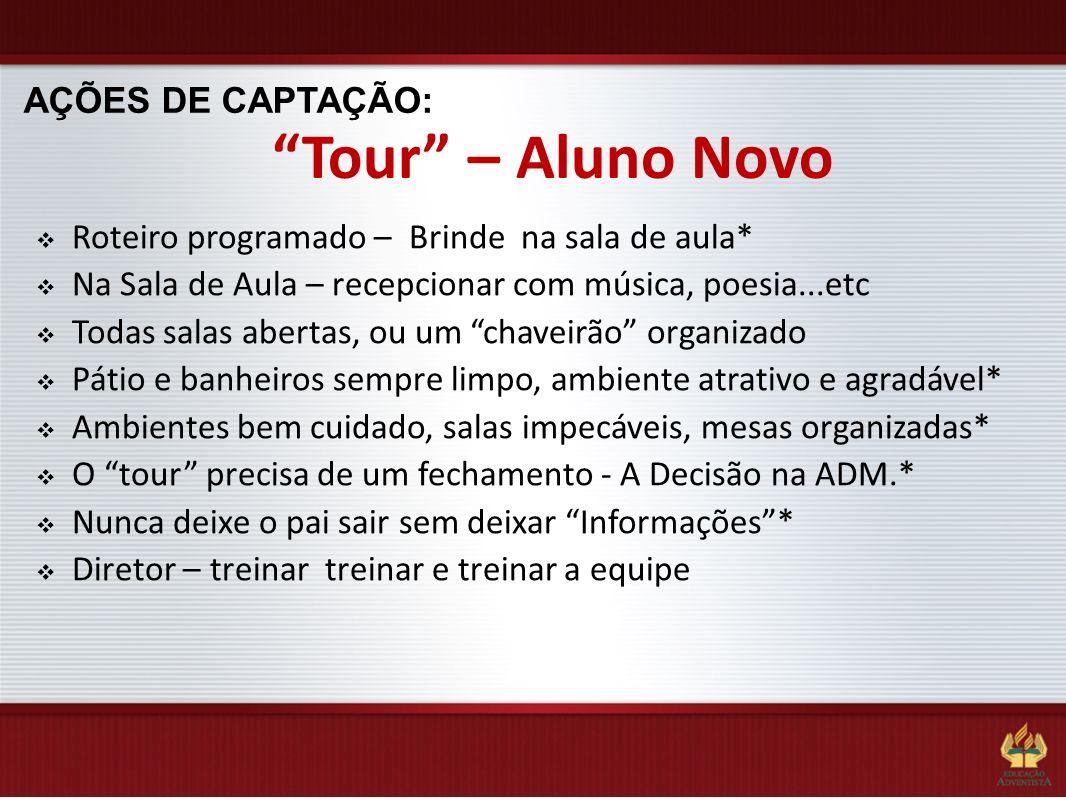 Tour – Aluno Novo AÇÕES DE CAPTAÇÃO: