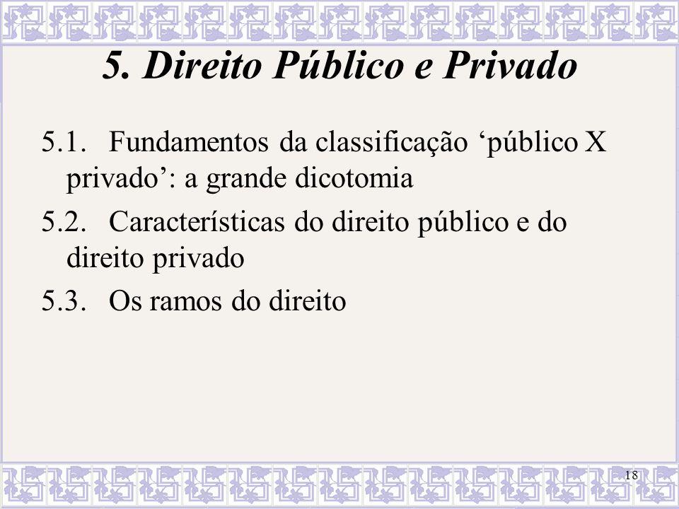 5. Direito Público e Privado