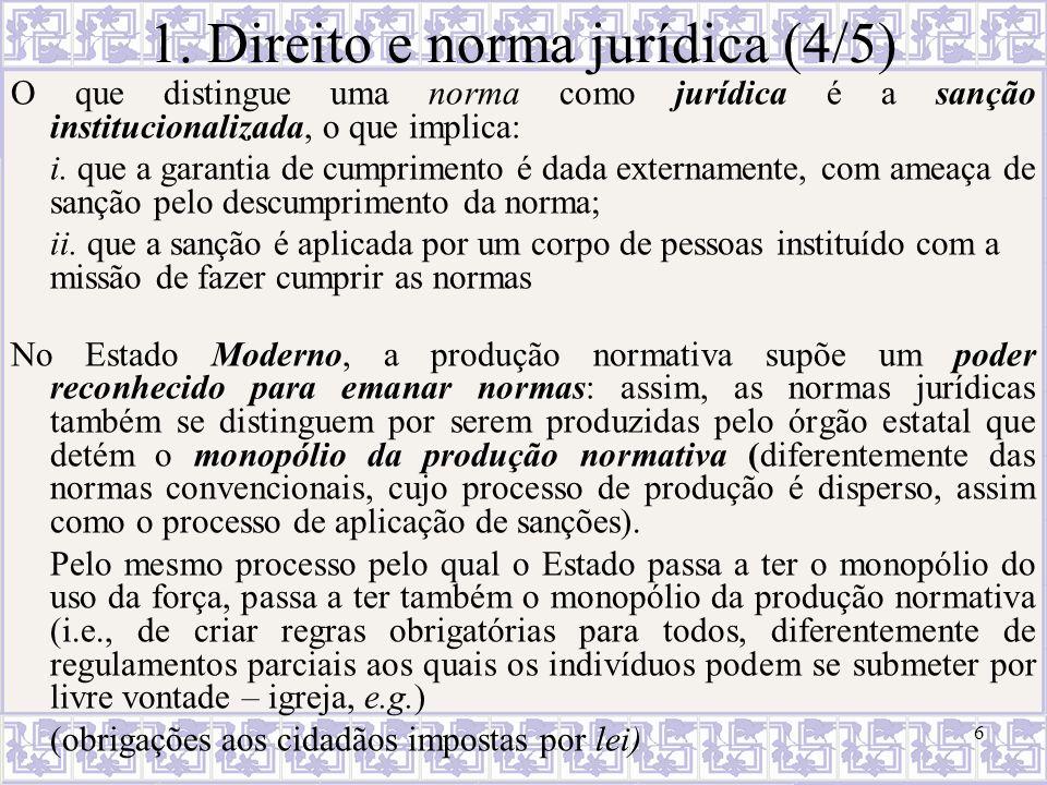 1. Direito e norma jurídica (4/5)