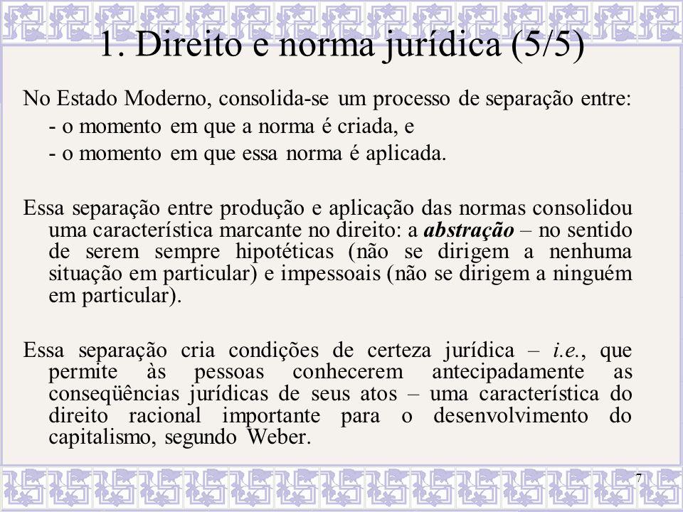 1. Direito e norma jurídica (5/5)