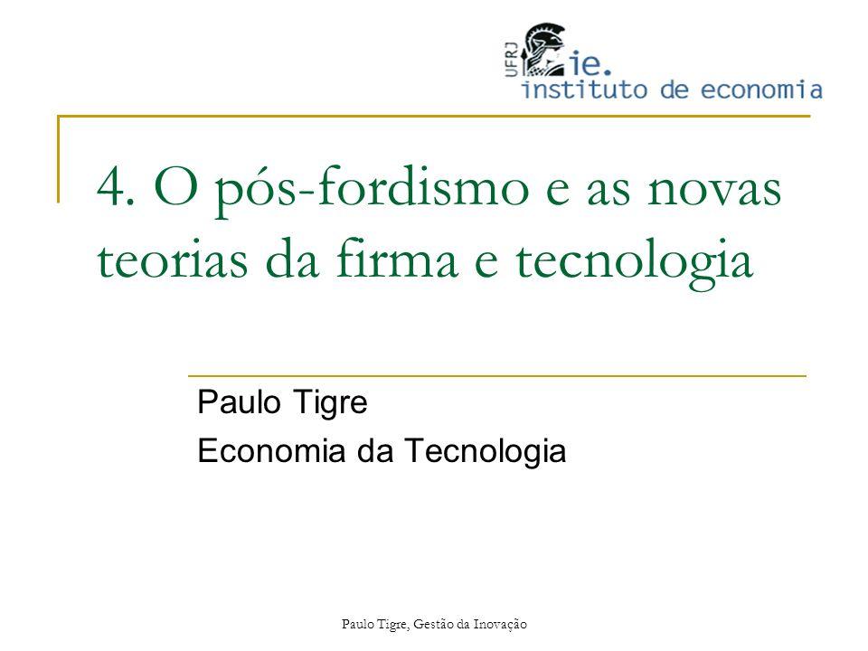 4. O pós-fordismo e as novas teorias da firma e tecnologia