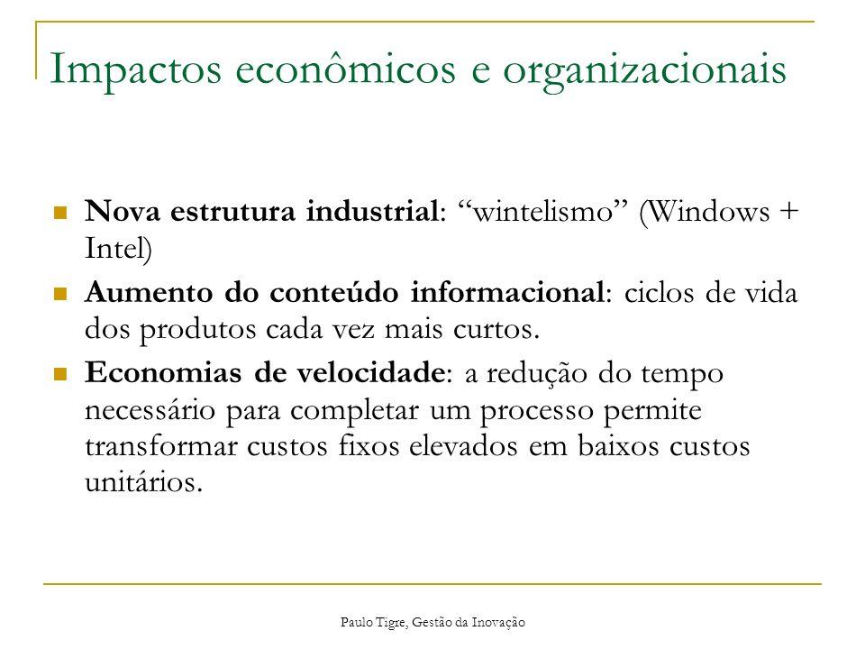 Impactos econômicos e organizacionais