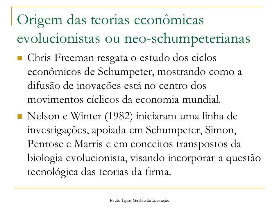 Origem das teorias econômicas evolucionistas ou neo-schumpeterianas