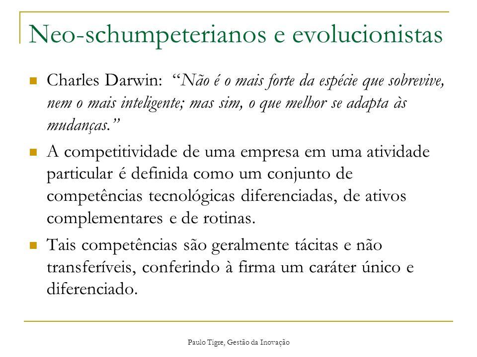Neo-schumpeterianos e evolucionistas