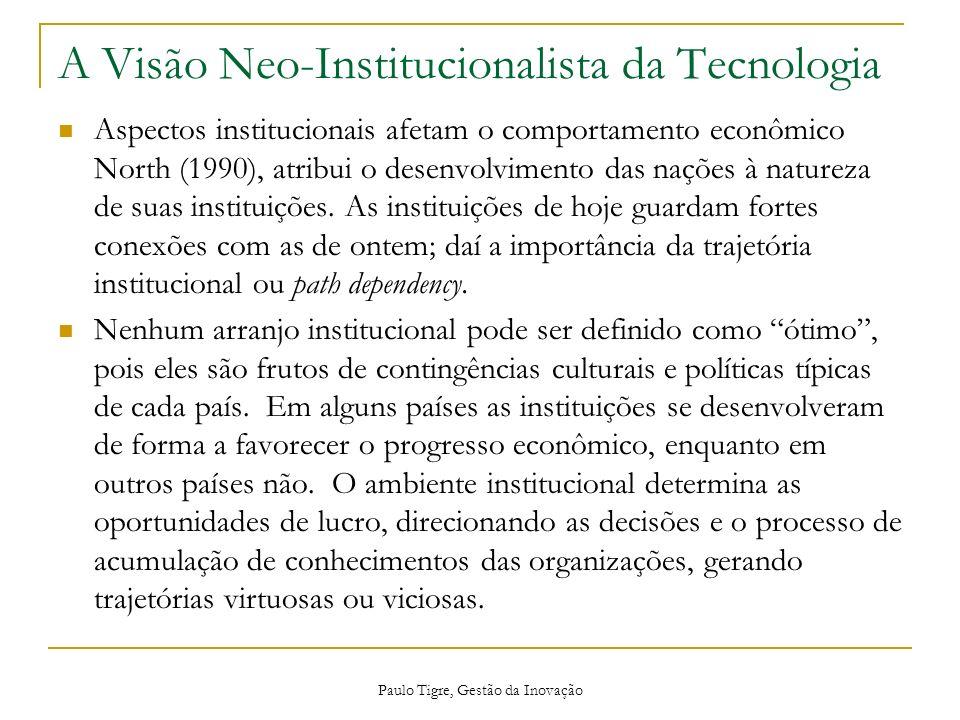 A Visão Neo-Institucionalista da Tecnologia