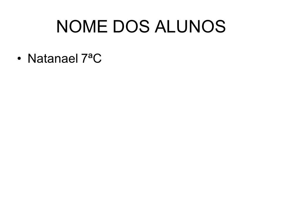 NOME DOS ALUNOS Natanael 7ªC