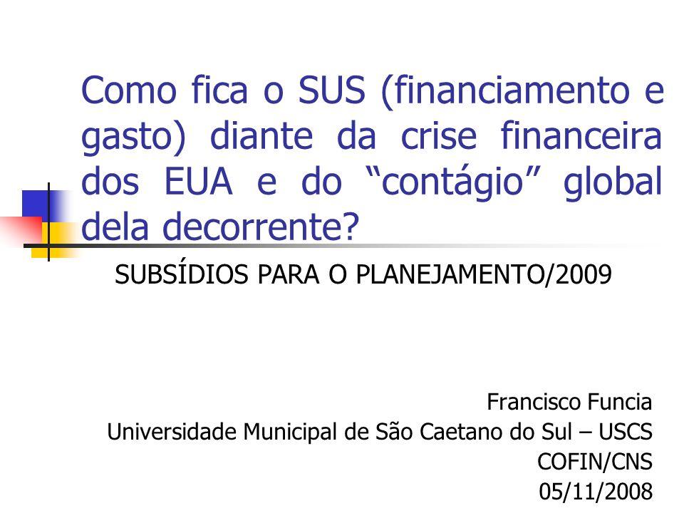 SUBSÍDIOS PARA O PLANEJAMENTO/2009