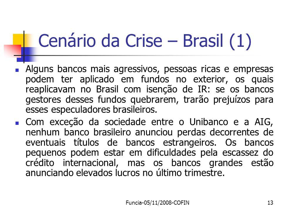 Cenário da Crise – Brasil (1)